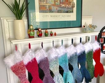 Mermaid Tail Christmas Stockings