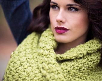 Chunky Knit Neck Warmer Pdf Pattern Instant Download