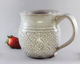Ceramic Mug - 10oz - Stamp Texture
