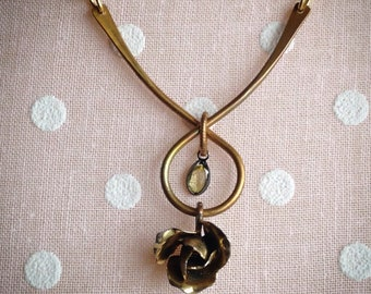 "Assemblage Jewelry; Vintage Earring; ""Sweet & Simple"""