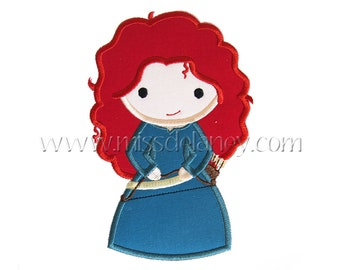 Brave Princess Applique Design