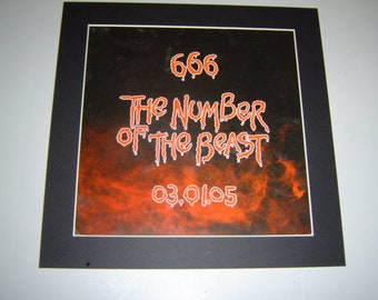 Iron Maiden 666 The Number Of The  Beast   Original  Poster in A Custom Made Mount Ready To Frame