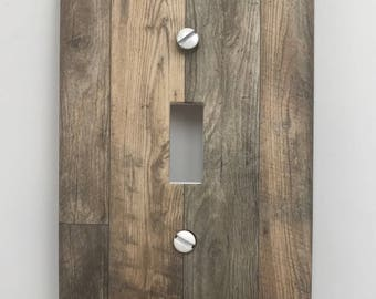 Rustic Wood Light Switch Plate Cover Planks // gray image 78 // SAME DAY SHIPPING**