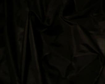 Fine Indian Silk taffeta in Black - Fat quarter-TF 6