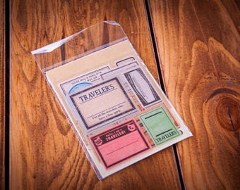 Traveler's Notebook Stickers, Travel Sticker Pack, Scrapbook, Stamp Planner Sticker Pack