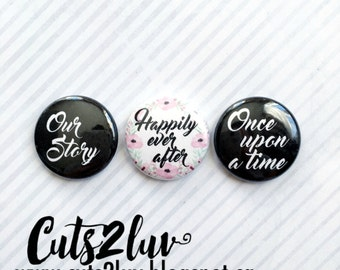 "3 badges 1 ""Our Story"