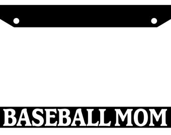 License Plate Frame BASEBALL MOM Auto Accessory Novelty