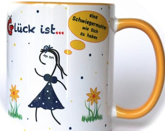 Gift Schwiegermama, mug, coffee mug with saying, gift for women, cups with saying, gift for mother in law