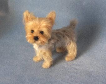 Yorkshire Terrier Needle felted  Dog Pet portrait smaller size