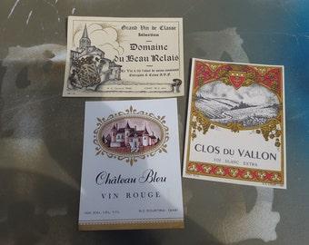 Original Labels, Vintage Labels, Vintage Wine Labels, Gift for Her, Antique Labels, 30s Wine Labels, Antique Wine Labels, Vintage Ephemera