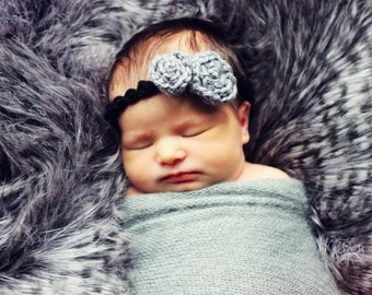 Hat CROCHET PATTERN Baby HEADBAND in 5 sizes 0-10 years Scallop with Roses
