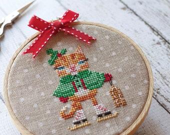 POLKA DOT counted cross stitch fabric : 32 ct. count Belfast Linen Zwiegart hand embroidery Kawaii Zakka needlework