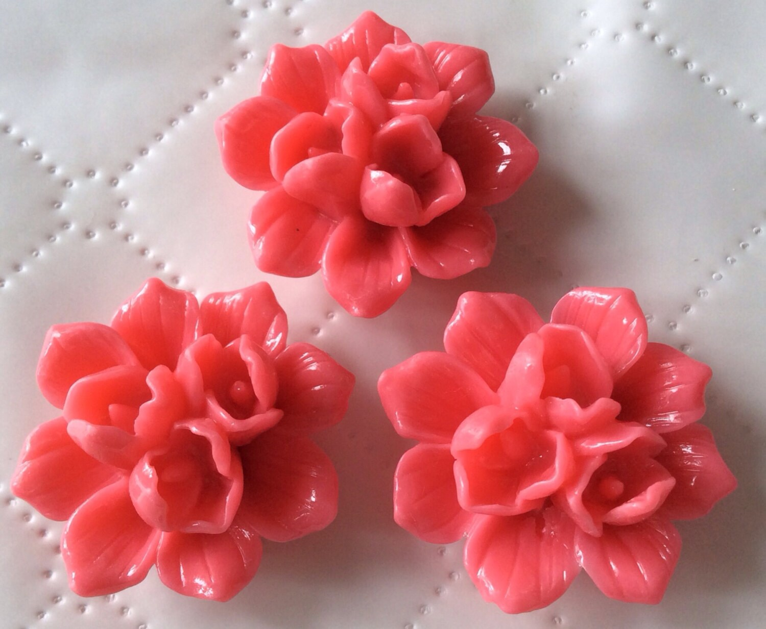 2 pcs 39 mm cabochon flowersep pinkpink resin flowerdeep zoom mightylinksfo Image collections
