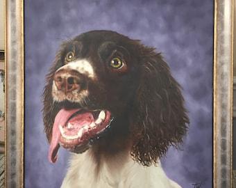 ORIGINAL oil painting of a SPRINGER SPANIEL