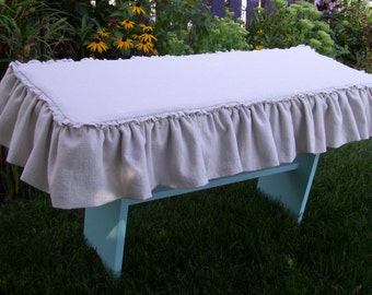 Linen Bench Slipcover, Bench Cover