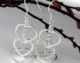 Heart ear hacking of chain, silver 925