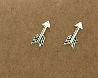 Sterling Silver Arrow Earrings, Arrow, Sterling Silver, Stud Earrings, Minimalist, Studs, Earrings, Silver Earrings