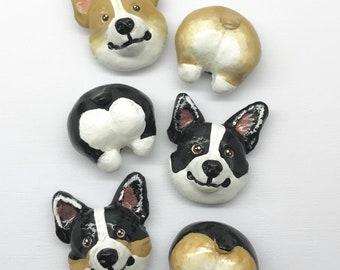Corgi gift, Corgi butt magnets, corgi lover gift, corgi magnets, dog lover gift, corgis, dog magnets, dog gift
