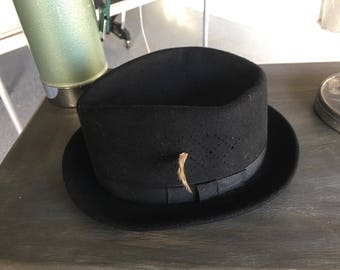 Vintage Silko Bailey's of Hollywood Fedora-100% Wool, Small - Vintage Men's Hat-Men's Fedora-Vintage Men's Fedora- Vintage Wool Fedora
