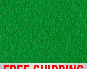 "Fleece Fabric Solid Kelly Green. 60"" Wide. 100% Polyester. Style# PTS17. Free Shipping"