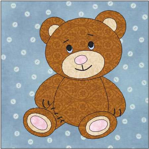 Printable Teddy Bear Sewing Pattern – Daily Motivational Quotes