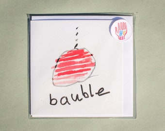 bauble - Refugee Children's Christmas Cards