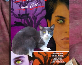 Tuxedo Cat Fine Art Canvas Print - Cat People Movie Poster NEW COLLECTION