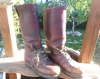 W.W. 2 Brown leather military bootsAntiques Antiques