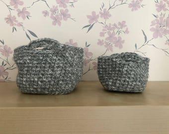 Crochet Baskets (2stuks)