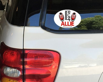 iRun For I Run For #Irun4 #irunfor Removable Window Bumper Sticker Decal Customized Color and Name