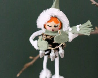 DIY Pinecone Ornament Kit - Little Elf Girl