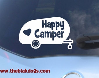 Im A Happy Camper In The Trailer Camping Sticker