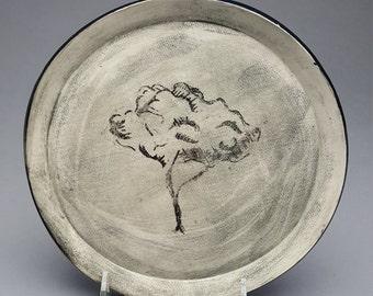 Plate, Dinner Plate, Elm tree