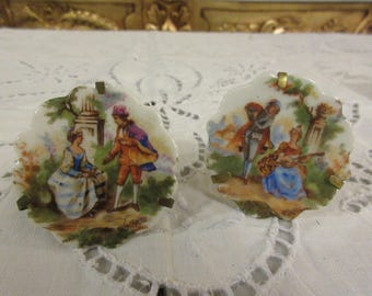 FRANCE LIMOGES PLATES with Stands