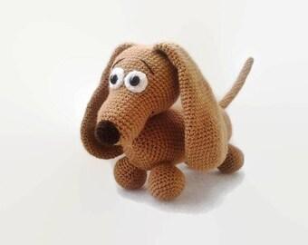 Daschund Crochet, Toy Dog, crochet Dachshund, amigurumi, stuffed toy dog, baby toy dog, handmade baby gift, crochet dog, amigurumi dogs