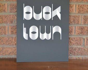 Bucktown Chicago Screen Print