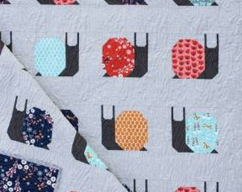 Garden Snails Quilt Kit featuring Sleeping Porch by Heather Ross