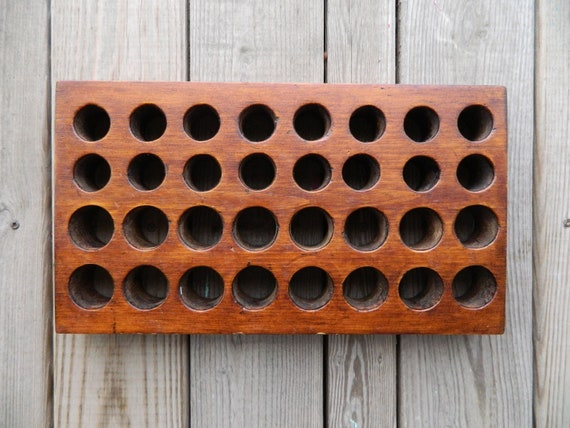 Vintage Wooden Grading Box with Holes