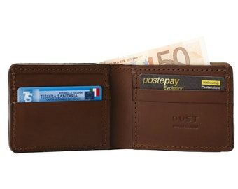 Leather Wallet for Men in Cuoio Havana