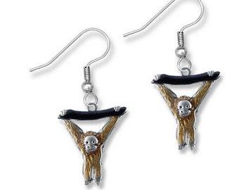 Hand Painted Orangutan Earrings