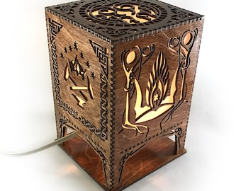 Lord of the Rings Middle Earth Lasercut Lamp