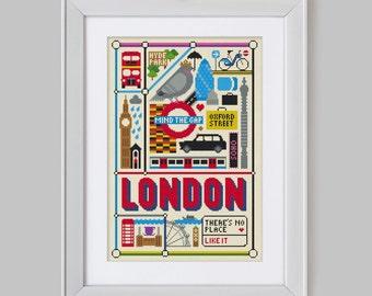 London Cross Stitch Pattern (Digital Format - PDF)