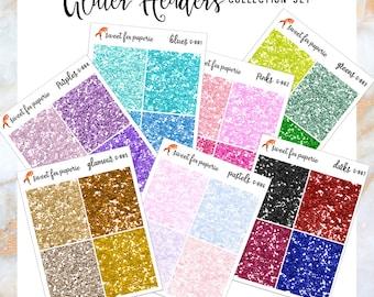 Glitter Header Stickers