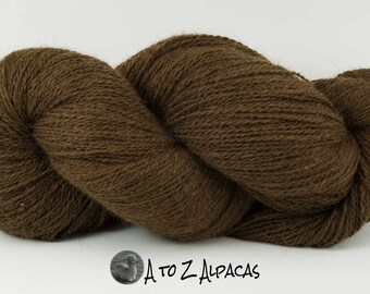 Sock Weight - Chocolate - Alpaca Yarn - Made in Canada