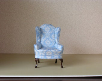 Dollhouse Miniature Wing Chair