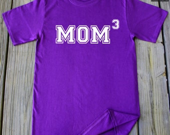 Mom of 3 Shirt Mothers day gift New Mom Mothers Day Tee Mom third time Mom Gift Idea New Baby Mom Gift Pregnancy Gifts for New Mom