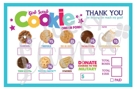 It's just a photo of Handy Girl Scout Cookie Order Form Printable 2020