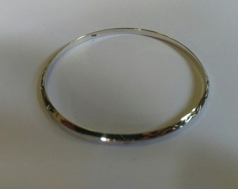 Handmade Solid 925 Sterling silver bangle