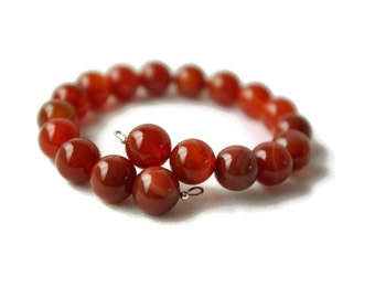 Orange bracelet, brown bracelet, agate bracelet, adjustable bracelet, wrap bracelet, memory wire bracelet, Anniversary present, Birthday