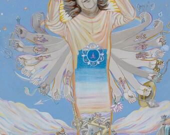 SAI VISHWAROOPA ~ The Story of God, Giclee Canvas Print